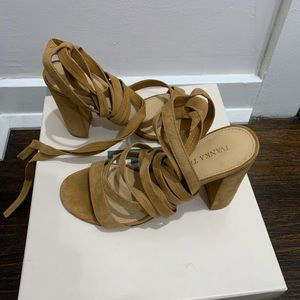 Ivanka Trump tie up chunky sandals